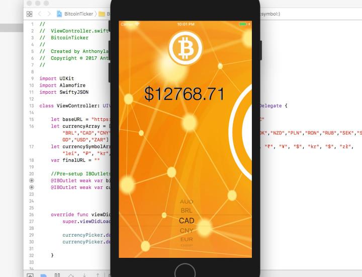 iOS App – Bitcoin Price Tracker