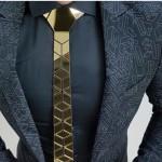 rental_luxury_gold_neck_tie_diamond_shape_hand_made_